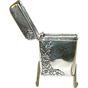 SALE Art Nouveau Sterling Match Safe by W.V.B. & Co.