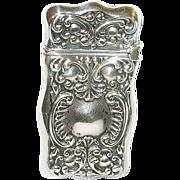 SALE Art Nouveau Sterling Match Safe Repousse Work