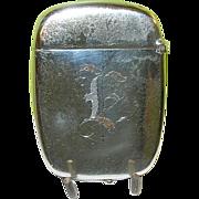 SALE Vintage Sterling Match Safe