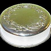 SALE Vintage Sterling Lid Vanity Jar Repousse Work by Gorham