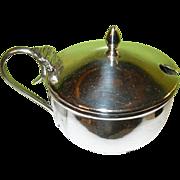 SALE Vintage English Sterling Mustard Pot by J.A. Ltd