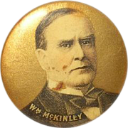 SALE Vintage Wm McKinley Campaign Button 1896