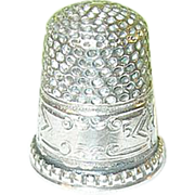 SALE Vintage Sterling Thimble Hand Chased Design