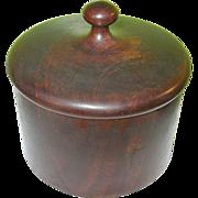 SALE Vintage Treenware Round Box