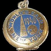 SALE Vintage NY World's Fair 1940 Souvenir Locket Gold Filled