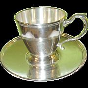 SALE Vintage Tiffany & Co. Sterling Demitasse Cup & Saucer
