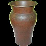 SALE Vintage Arts & Crafts Hand Hammered Copper Vase