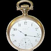SALE Vintage Elgin National Watch Co  Gold Filled Pocket Watch 15 Jewels