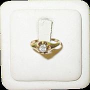 SALE Vintage 14K Diamond Solitaire