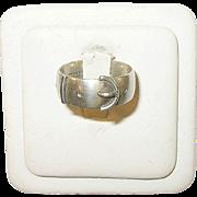 SALE Victorian Sterling Belt Buckle Ring