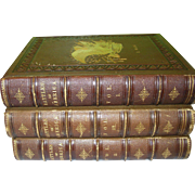 "SALE Antique 3 Vol. Set ""Battles of America"" By Robert Tomes M.D. 1861"