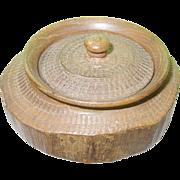 SALE Vintage Treen Ware Lidded Box