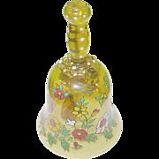 SALE Vintage Art Glass Bohemian Bell Jeweling & Hand Applied Decoration