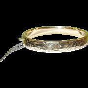 SALE Vintage Gold Filled Bangle Bracelet