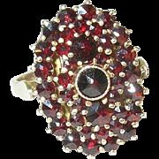 SALE Vintage Sterling Silver & Garnet Ring