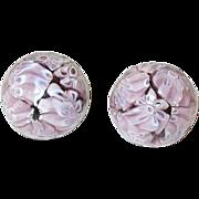 SALE Vintage Venetian Glass Earrings