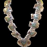SALE Vintage Sterling Silver Zuni Necklace