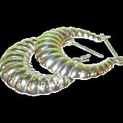 SALE Vintage Sterling Silver Hoop Earrings
