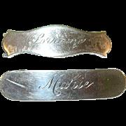 SALE Vintage Sterling Silver Barrettes
