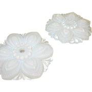 SALE Opalescent Curtain Tie Back by Sandwich Glass Co Pair