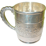 SALE Antique Tiffany & Co Sterling Child's Mug  The Child's Parade
