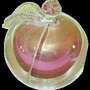 SALE Vintage Murano Art Glass Lg Paperweight Apple