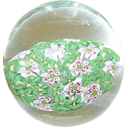 SALE Vintage Art Glass Paperweight Millefiori