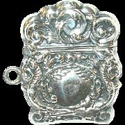 SALE Vintage Miniature Sterling Repousse Match Safe