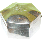 SALE Vintage Sterling Pill Box
