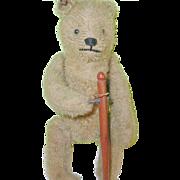 "SALE Antique Bing Wind-up Bear 8"" Original Tin Ear Tag G.B.N.1907 ..."
