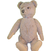 """SALE Vintage Steiff Bear 18"""" Tan Mohair"""