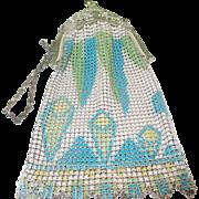 SALE Vintage Whiting & Davis Art Deco Mesh Bag