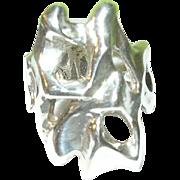 SALE Vintage Sterling Modernist Ring