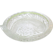 SALE Vintage Lalique Bowl Fish Design