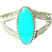 SALE Vintage Sterling Turquoise Ring