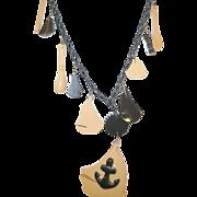 SALE Vintage Bakelite Nautical Necklace