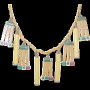 SALE Vintage Martha Sleeper Bakelite Lucite Cigarette Match Necklace