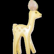 SALE Vintage Bakelite Martha Sleeper Deer Brooch