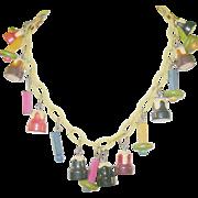 SALE Vintage Bakelite Wood Match Necklace Match Necklace Martha Sleeper