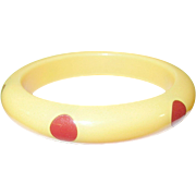 SALE Vintage Bakelite Bangle 6 Dots