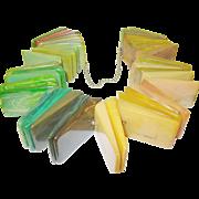 SALE Vintage Bakelite Salesman's Sampler Multicolored Slabs Extremely Rare