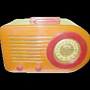 SALE Vintage Bakelite Bullet Radio FADA 1000 Butterscotch