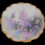Johann Haviland Bavaria Germany Floral Plate Gold Gilt, Signed by Artist
