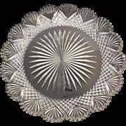 American Brilliant Crystal Cut Glass Plate