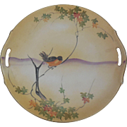 Nippon Hand Painted Doubled Handled Plate