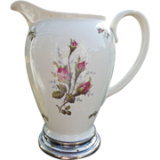 Rosenthal / Continental Moss Rose Porcelain Pitcher- Marked