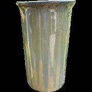 Fulper Cylindrical Flame Glaze Vase
