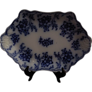 Johnson Bros. Sculpted 1898 Flo Blue Platter