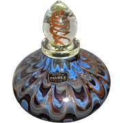 Dale Tiffany 1980's Hand Blown Aventurine Pulled Drape Ladies Cologne Bottle