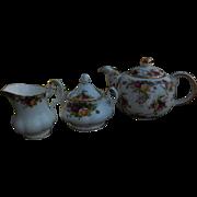 Royal Albert Old Country Roses Pattern - 3 piece Tea Set